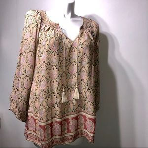 NWT Lucky brand Boho chic floral blouse size 3X